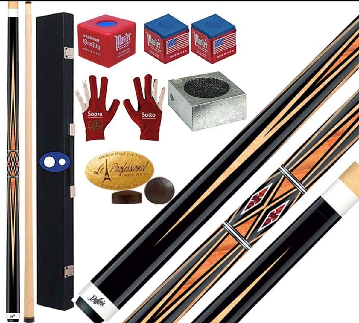 Dufferin mosaico Serie D533. Taco Pro Billar Pool 2 piezas, cm.147, cuero Tiger Everest multicapa o mm. 12,5. Maletín, rodillos y accesorios gratis.: Amazon.es: Deportes y aire libre