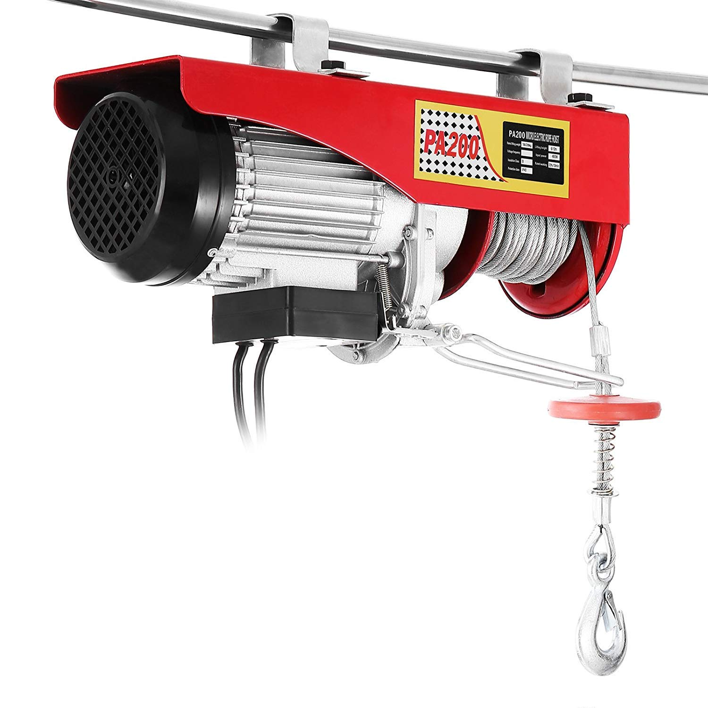 1500LBS Morffa 680KG lectric Hoist Lift 1500LBS Overhead Electric Hoist Electric Wire Hoist Remote Control Garage Auto Shop Overhead Lift