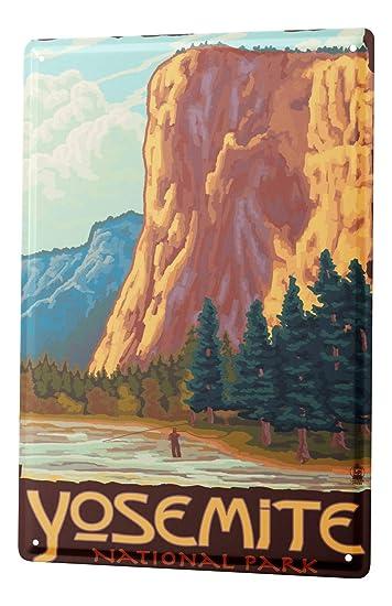 Blechschild Welt Reise Yosemite National Park