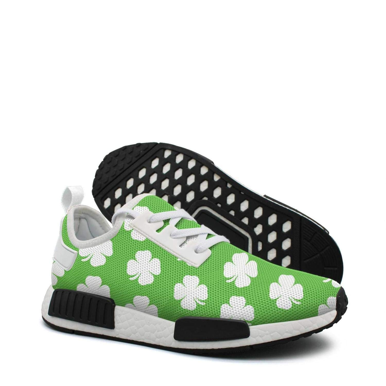 b38fe4f0d0c01 Amazon.com: St Patricks shamrock print Clover jogging shoes for ...