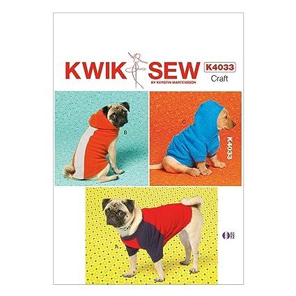 Kwik Sew Patterns K4033 - Patrones de abrigos para perro (tallas XS: 21-26 cm, S: 31-36 cm, M: 41-46 cm y L: 51-56 cm): Amazon.es: Hogar