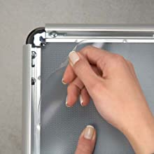 SnapeZo Replacement PVC Covers for 24x36 Inches Snap Frames - Clear Glossy
