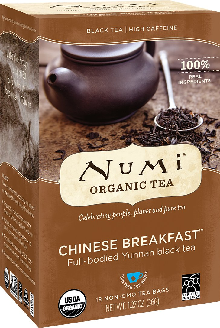 Numi Organic Tea Aged Earl Grey, (Pack of 3 Boxes) 18 Bags Per Box, Organic Black Tea Naturally Aged with Italian Bergamot to Absorb the Flavor, Non-GMO Biodegradable Bags, Premium Bagged Tea 680692601701