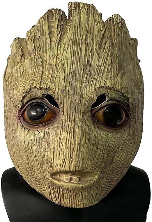 XPRINT Máscaras De Halloween Cosplay Groot Látex Máscara Sombrero ...