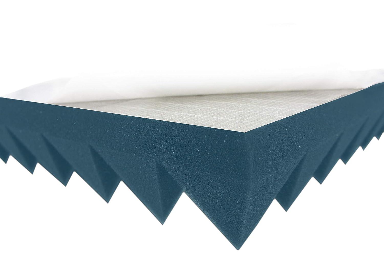Pyramiden Schaumstoff Akustikschaum Schallabsorber Schallschutz Gelb Anthrazit