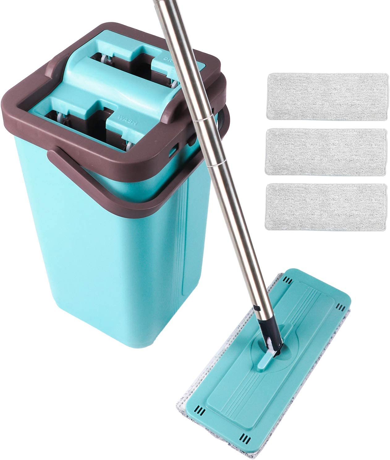 Mopas con cubo para fregar suelo de parquet
