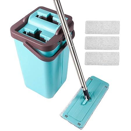 Flat Mop - Sistema de limpieza en seco con 4 mopas de microfibra ...