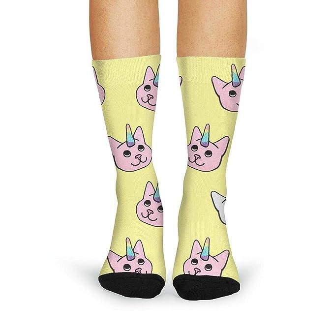 2f56e69aa0b Novelty Crew Socks Color Unicorn Cat 2 Girl Leg Warmer womens thigh high  socks