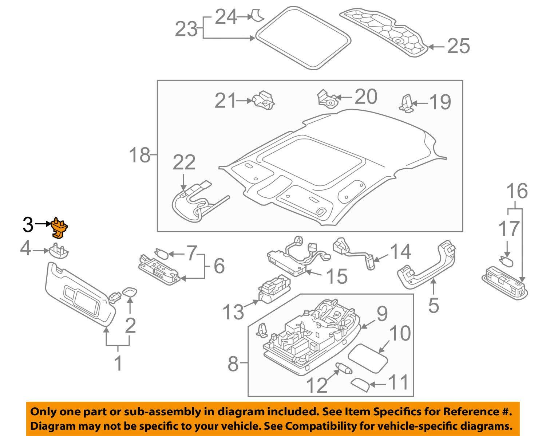 Original Audi A1 A3 A4 A5 Q3 Q5 TT Sun Visor Holder 8W0857562A 4PK 8W0857562A4PK