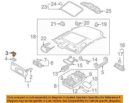 Amazon.com  AUDI Genuine A4 A3 A5 TT Interior Sun Visor Hook Clip ... 1810e9dbfb5
