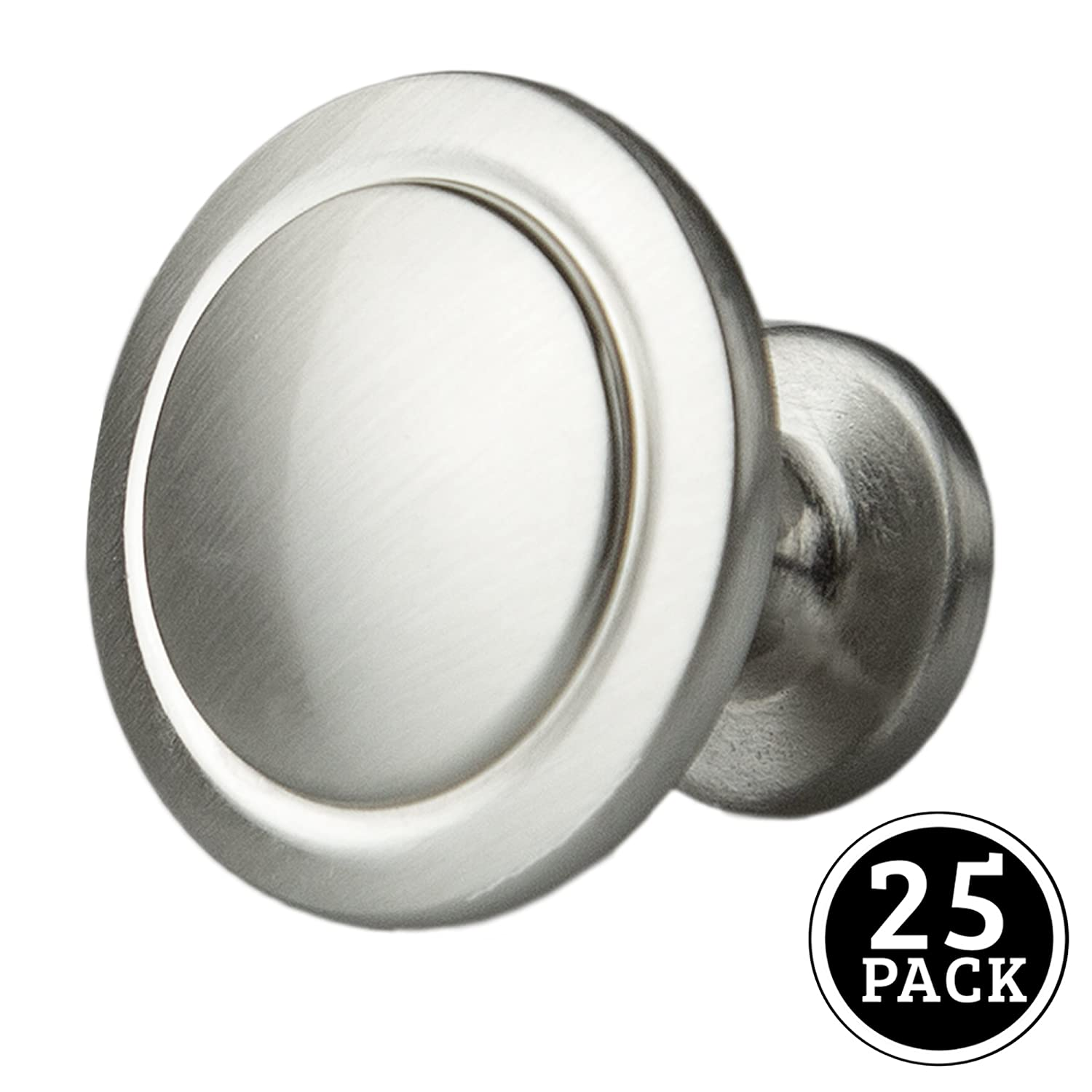 satin nickel kitchen cabinet knobs 1 14 inch round drawer handles 25