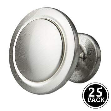 satin nickel kitchen cabinet knobs 1 14 inch round drawer handles 25