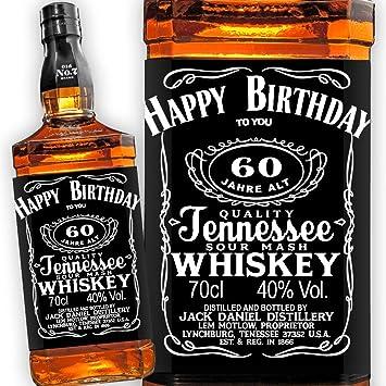 Jack Daniels Whiskey Etikett 60 Geburtstag Amazon De Kuche