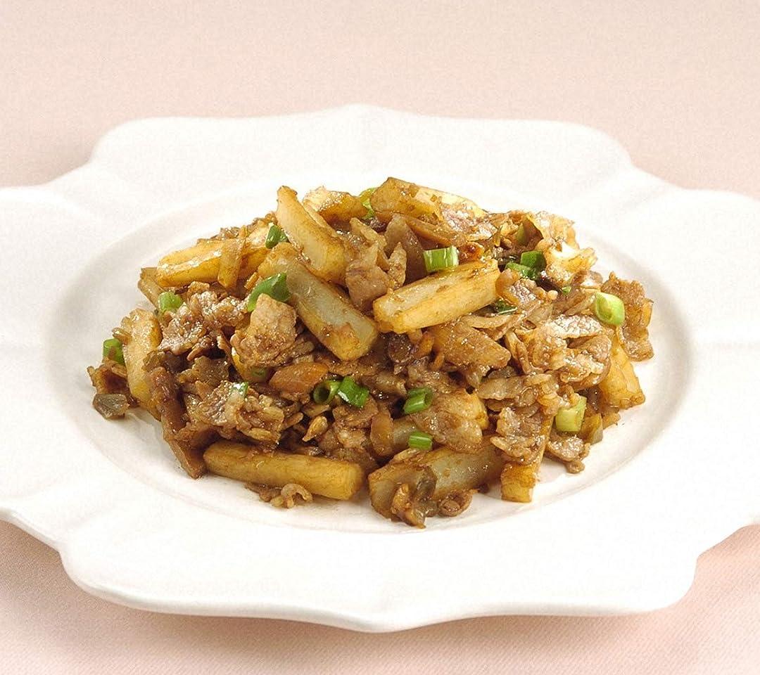 料理 豚肉とメンマの味噌炒め QHD(1080×960)スマホ 壁紙・待ち受け