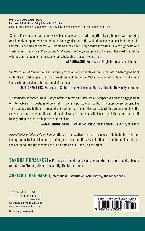 Postcolonial Intellectuals in Europe: Critics, Artists