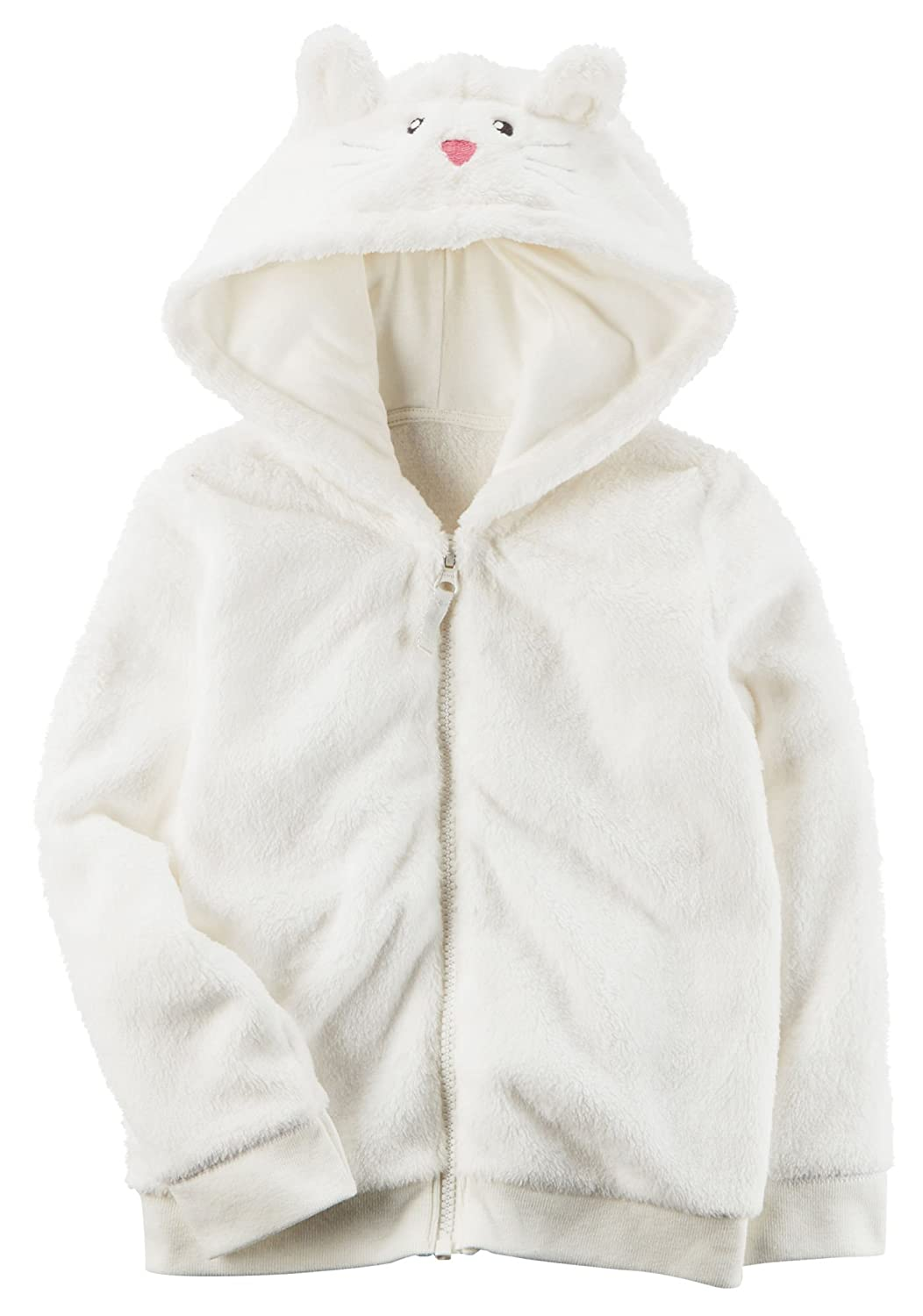 Carter's Girls' 12M-4T Faux Sherpa Hoodie with Ears