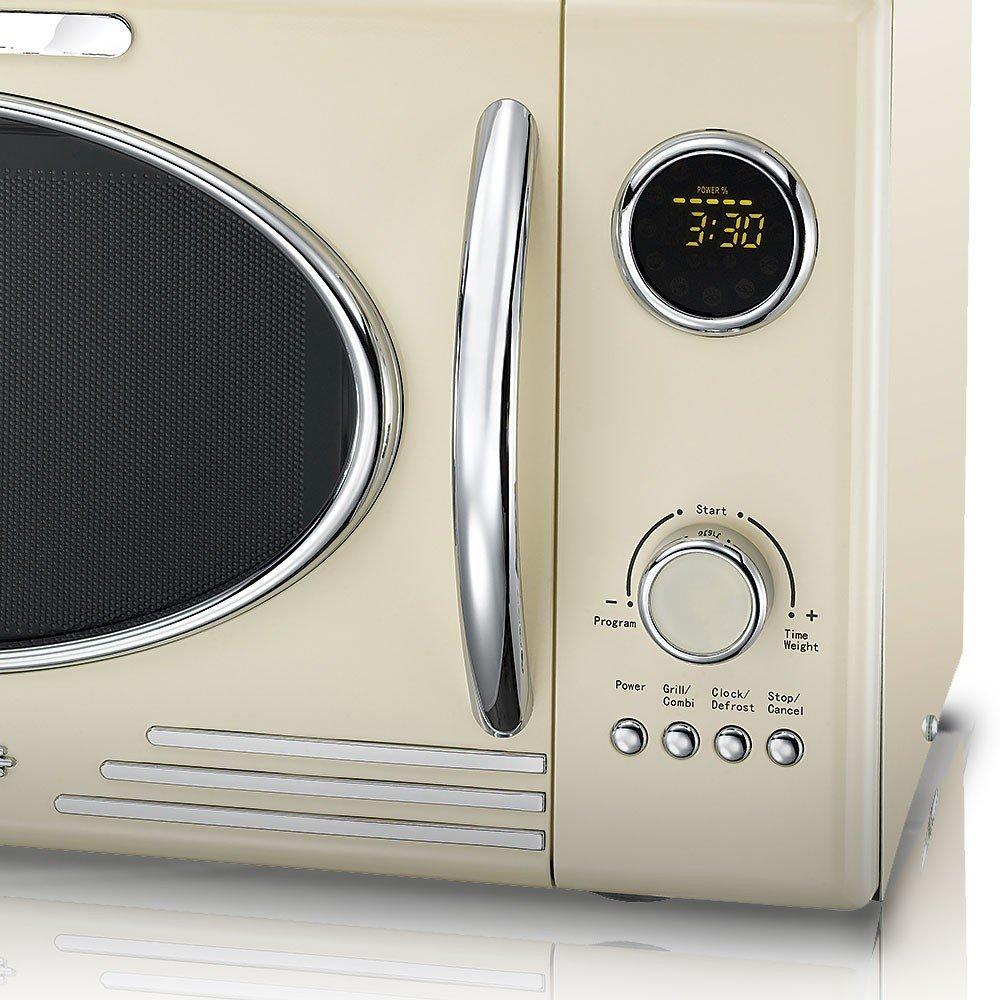 retro design mikrowelle creme 900 watt grillfunktion grill micro 25 l ebay. Black Bedroom Furniture Sets. Home Design Ideas