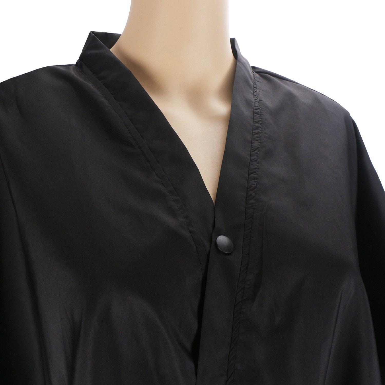 Bata de masaje Black Spa, vestido de kimono Segbeauty Mangas medias universales Ropa para clientes Salón de belleza Bata impermeable Peluquería Capa para ...