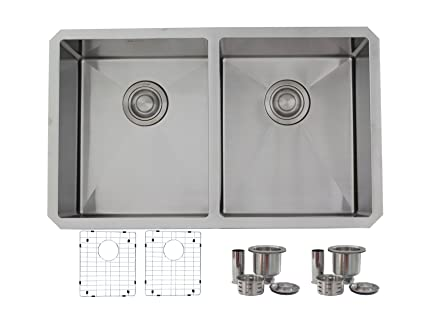 30 inch Undermount 50/50 Double Bowl 18 gauge Stainless Steel ...