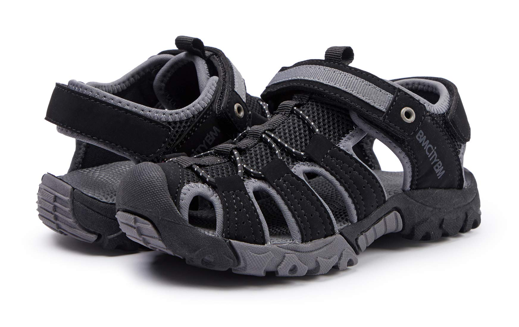 BMCiTYBM Girls Boys Hiking Sport Sandals Toddler Kid Closed Toe Water Shoes Black Size 3 by BMCiTYBM (Image #4)