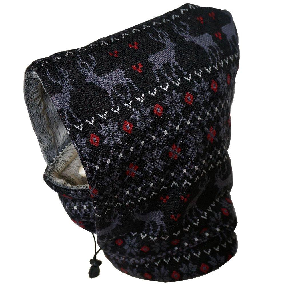 ブラックフードNeckwarmer Faux Fur for大人用、子供用スキーモータースノーボード  Adult