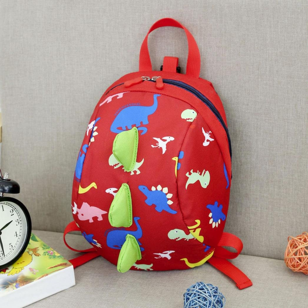 Sinwo Baby Boys Girls Kids Child Cute Dinosaur Pattern Animals Backpack Toddler School Bag Shoulder Bag Handbag