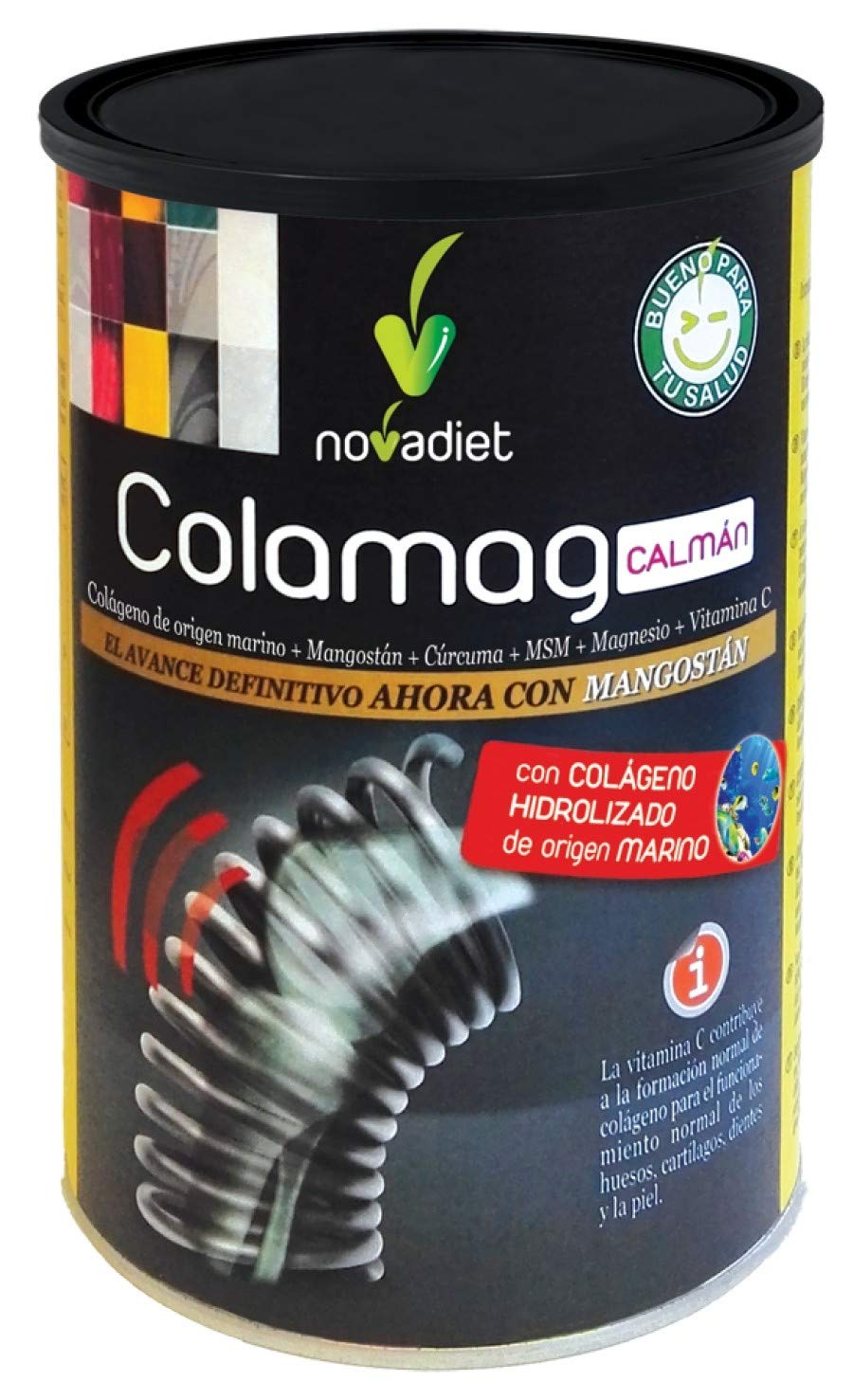 Novadiet Colamag Calman Combinación de Multivitaminas y Minerales - 300 gr: Amazon.es: Salud y cuidado personal