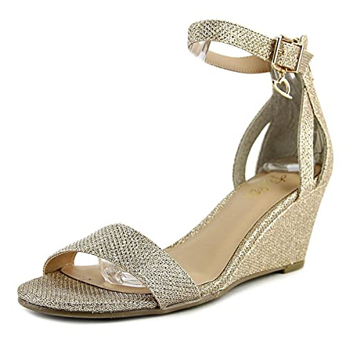 Thalia Sodi Womens areyanaf Open Toe Ankle Strap Classic Pumps Gold Size 6.0