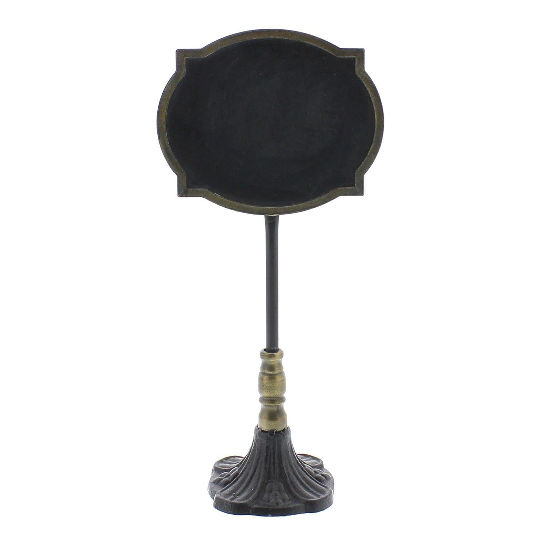 Ornate Vintage Style Table Top Chalkboard Sign | Oval Label Antique