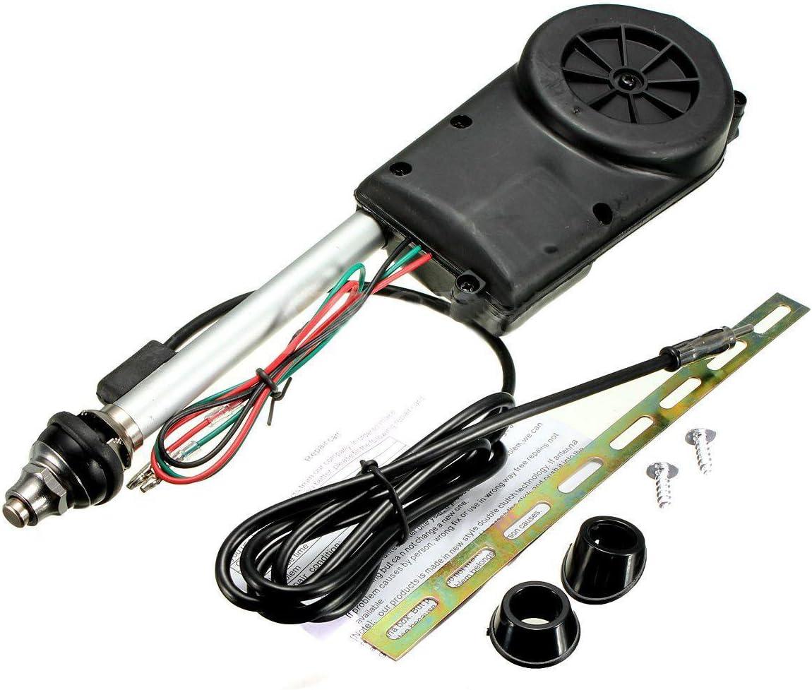 Cikuso Conjunto de antena electrica de propulsion automatica de radio de coche negro