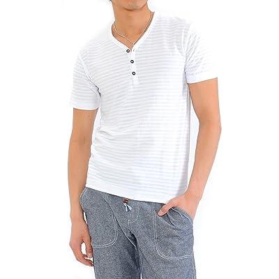 (スペイド) SPADE Tシャツ メンズ タックボーダー ボーダー ヘンリーネック ボーダーTシャツ【e449】