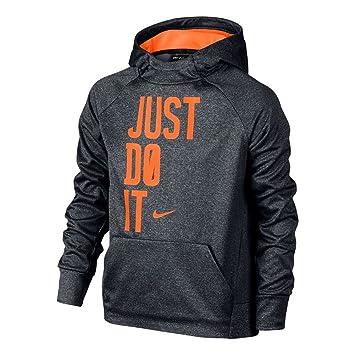 Nike B Nk Thrma Hoodie Po Gfx - Sudadera para niño, color gris, talla S: Amazon.es: Deportes y aire libre
