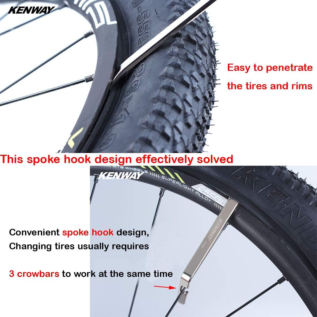 Amazon Com Tragoods Premium Bicycle Tire Lever Tyre Spoon Iron