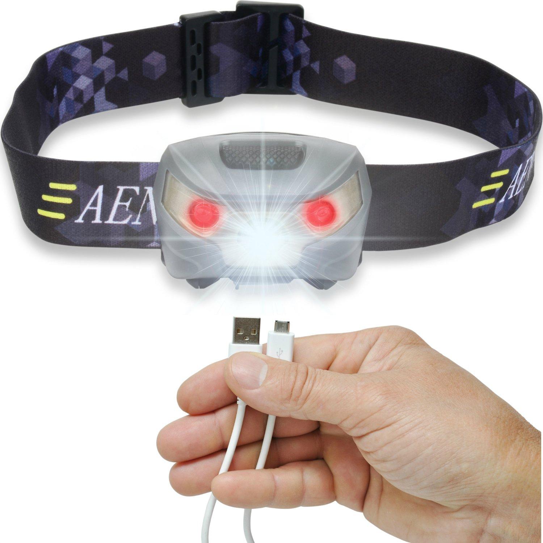 Camping Gadgets USB Stirnlampe
