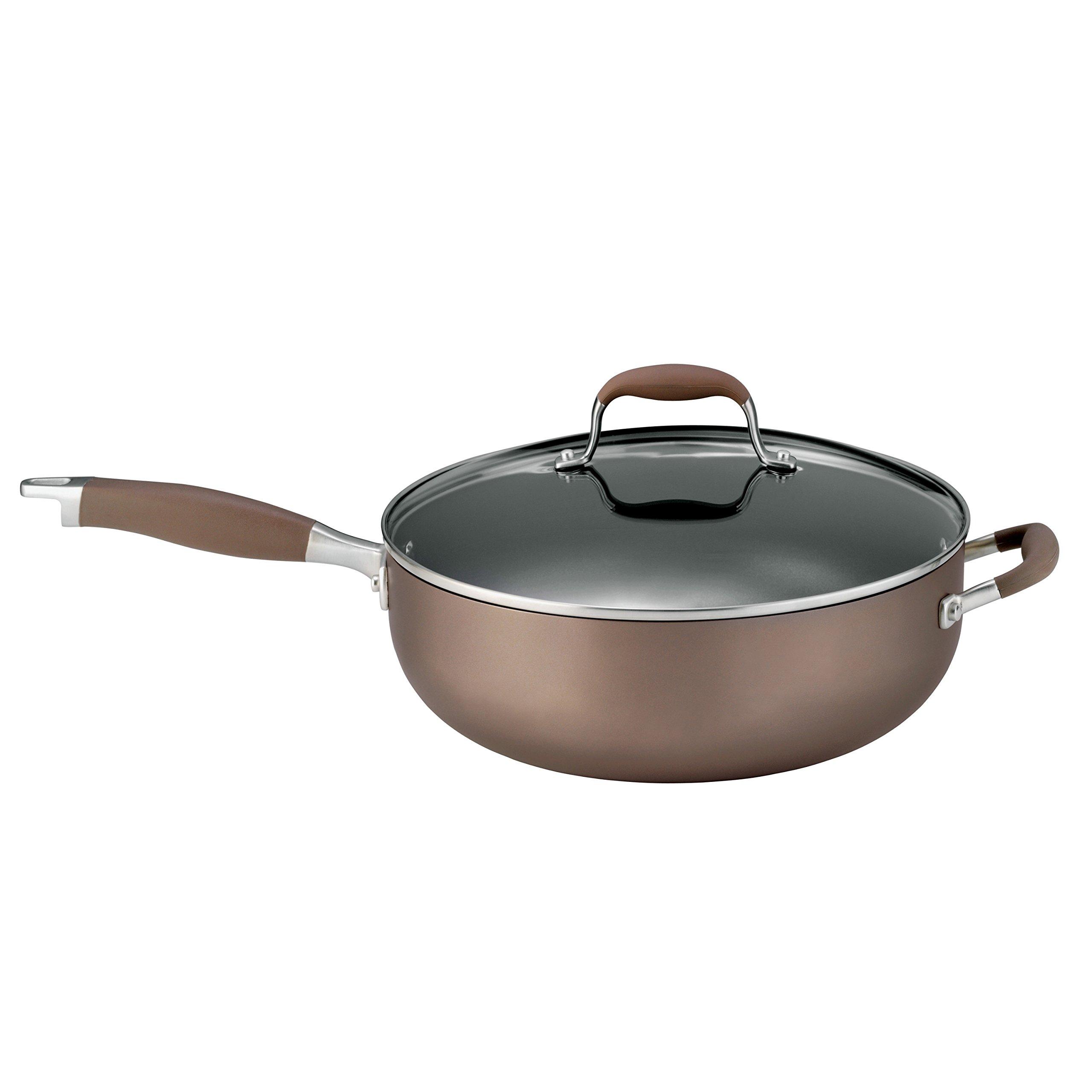 Anolon 83344M Advanced Bronze Hard Anodized Nonstick 5 Quart Covered Chef Pan