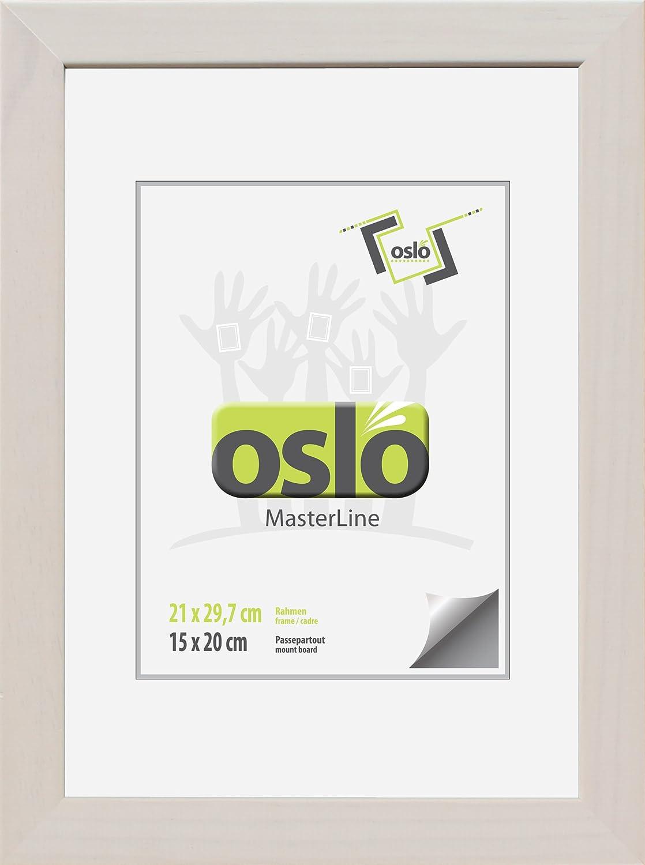 Amazon.de: OSLO MasterLine Bilderrahmen exakt DIN A4 21x29, 7 weiß ...