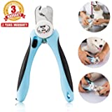 Pet Nail Clippers for Dogs Cats Small Animals, Trimmers with Nail File and Quick Sensor Safety Guard by Bencmate
