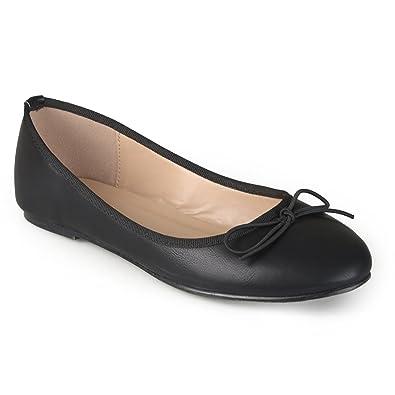 d4877fbf5 Journee Collection Womens Round Toe Bow Ballet Flats Black, 7.5 Regular US
