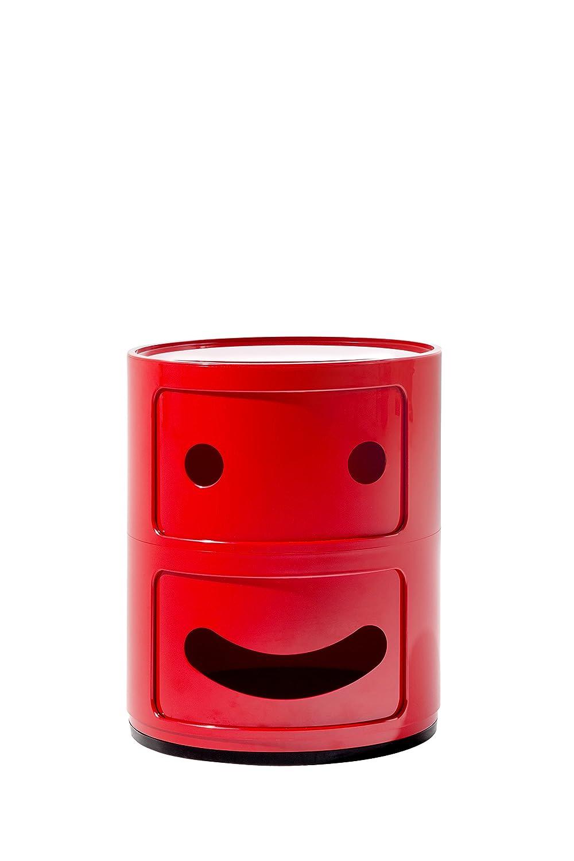 Kartell Componibili Smile 0492410 Mobile Contenitore, Rosso, 14x14x32 cm