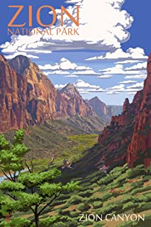 product image for Zion National Park, Utah - Zion Canyon View (36x54 Giclee Gallery Print, Wall Decor Travel Poster)