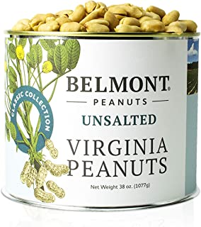 product image for Belmont Peanuts Unsalted Virginia Peanuts, 38 oz, Classic Collection