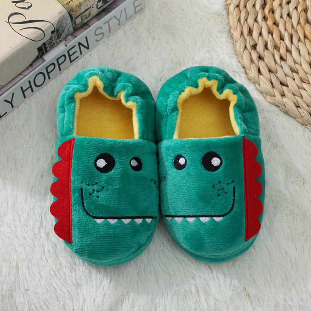 ODJOY-Fan-pantofole Bambini Invernali Scarpe con Peluche Pantofole Antiscivolo Invernali da Indoor Outdoor Pantofola di Cotone per La Casa Scarpe Simpatico Cartone Animato di Animali Pantofole Calde