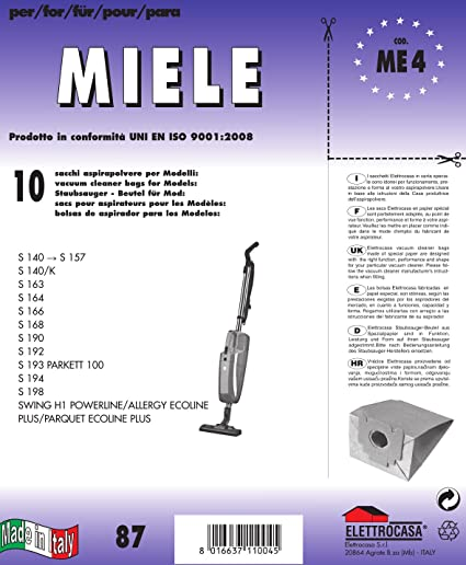 Sac aspirateur balai MIELE S 140 > 157