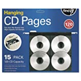 Find It Hanging CD/DVD File Pages, Letter-Size, 15