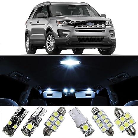 muchkey® Luz LED de coche para Ford Explorer Fiesta bombillas de repuesto interior Dome Mapa