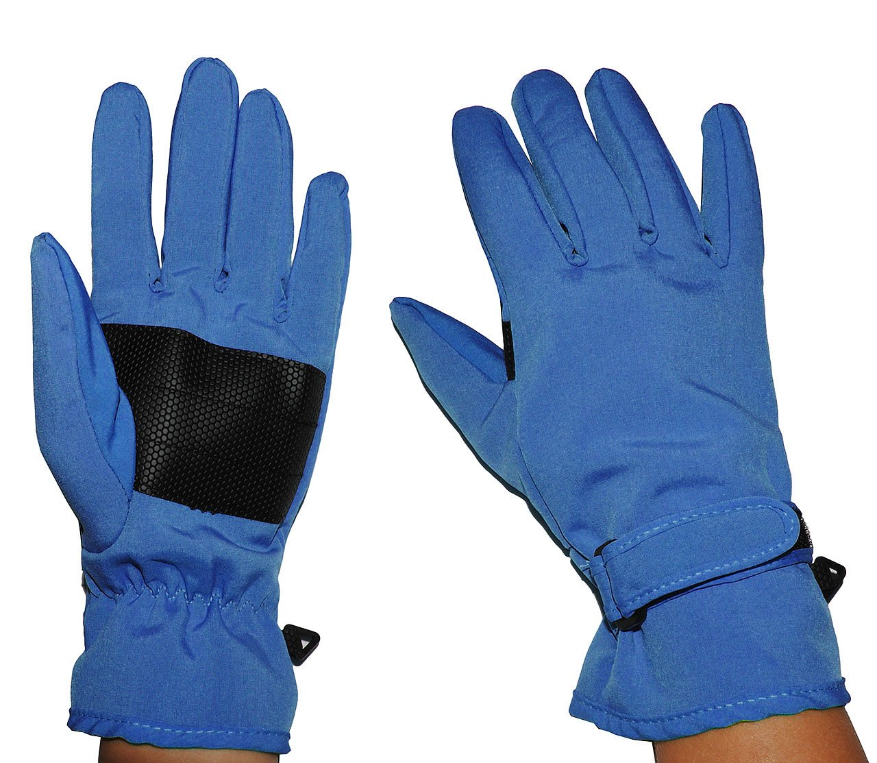 Unbekannt Fingerhandschuhe Softshell - Azur blau - Thermo gefüttert mit Fleece - dünner Thermohandschuh - Größe: 4 bis 5 Jahre - wasserdicht + atmungsaktiv Soft Shell -.. Kinder-land
