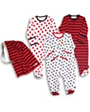 The Essential One - Unisex Pack of 3 Baby Sleepsuits / Babygrows ESS36 0-3 months