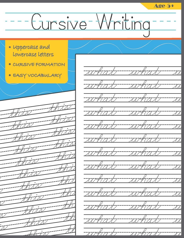 Cursive Writing: Words Cursive Handwriting Workbook For Kids ...