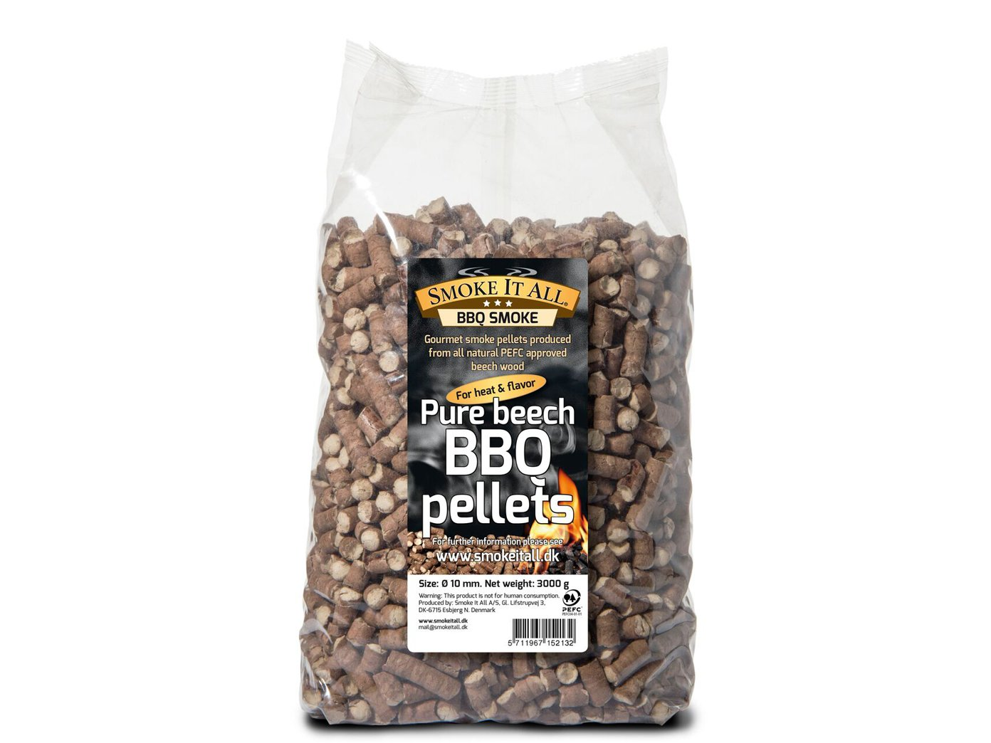 Smoke it All Barbecue Pellets räucherpelltes bois de hêtre 3 kg pour barbecue OD. Fumoir ; 61200