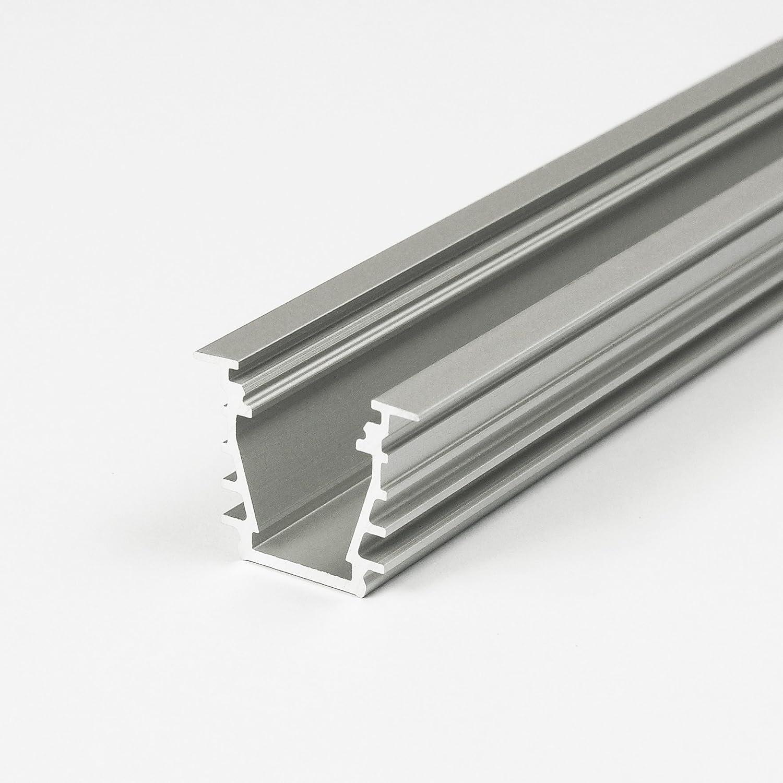 WIESEMANN 1893 Perfil de Aluminio (LED)/Perfil de Iluminación «Garda», Blanco Barnizado, sin Tapas terminales (LED - Perfil de Aluminio): Amazon.es: Hogar